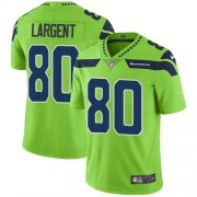 Wholesale Cheap Nike Seahawks #80 Steve Largent Green Youth Stitched NFL Limited Rush Jersey