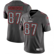 Wholesale Cheap Nike Patriots #87 Rob Gronkowski Gray Static Men's Stitched NFL Vapor Untouchable Limited Jersey