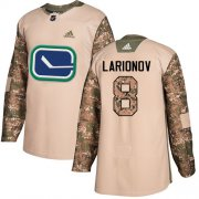 Wholesale Cheap Adidas Canucks #8 Igor Larionov Camo Authentic 2017 Veterans Day Stitched NHL Jersey