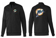 Wholesale Cheap NFL Miami Dolphins Team Logo Jacket Black_1