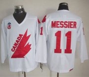Wholesale Cheap Olympic 1991 CA. #11 Mark Messier White CCM Throwback Stitched NHL Jersey