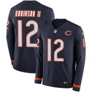 Wholesale Cheap Nike Bears #12 Allen Robinson II Navy Blue Team Color Men's Stitched NFL Limited Therma Long Sleeve Jersey