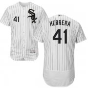 Wholesale Cheap White Sox #41 Kelvin Herrera White(Black Strip) Flexbase Authentic Collection Stitched MLB Jersey
