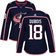 Wholesale Cheap Adidas Blue Jackets #18 Pierre-Luc Dubois Navy Blue Home Authentic Women's Stitched NHL Jersey
