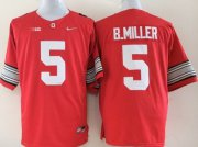 Wholesale Cheap Ohio State Buckeyes #5 Baxton Miller 2015 Playoff Rose Bowl Special Event Diamond Quest Red Jersey