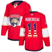 Wholesale Cheap Adidas Panthers #11 Jonathan Huberdeau Red Home Authentic USA Flag Stitched Youth NHL Jersey