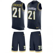 Wholesale Cheap Nike Chargers #21 LaDainian Tomlinson Navy Blue Team Color Men's Stitched NFL Limited Tank Top Suit Jersey
