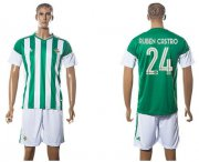 Wholesale Cheap Real Betis #24 Ruben Castro Home Soccer Club Jersey