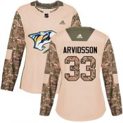 Wholesale Cheap Adidas Predators #33 Viktor Arvidsson Camo Authentic 2017 Veterans Day Women's Stitched NHL Jersey