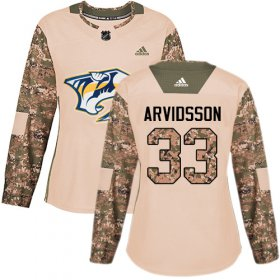 Wholesale Cheap Adidas Predators #33 Viktor Arvidsson Camo Authentic 2017 Veterans Day Women\'s Stitched NHL Jersey