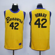 Wholesale Cheap Teen Wolf Beavers 42 Goward Gold Basketball Jersey