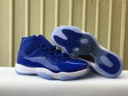 Wholesale Cheap Womens Air Jordan 11 True Blue Blue/White