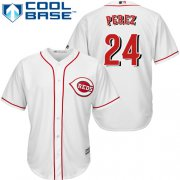 Wholesale Cheap Reds #24 Tony Perez White Cool Base Stitched Youth MLB Jersey