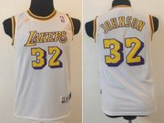 Cheap Los Angeles Lakers #32 Magic Johnson White Swingman Throwback Kids Jersey