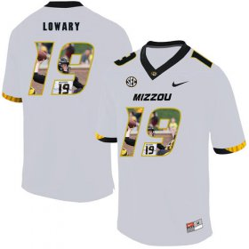 Wholesale Cheap Missouri Tigers 19 Jack Lowary White Nike Fashion College Football Jersey