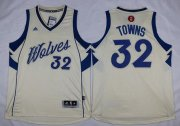 Wholesale Cheap Men's Minnesota Timberwolves #32 Karl-Anthony Towns Revolution 30 Swingman 2015 Christmas Day Cream Jersey