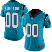 Wholesale Cheap Nike Carolina Panthers Customized Blue Alternate Stitched Vapor Untouchable Limited Women's NFL Jersey