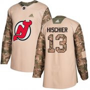 Wholesale Cheap Adidas Devils #13 Nico Hischier Camo Authentic 2017 Veterans Day Stitched Youth NHL Jersey