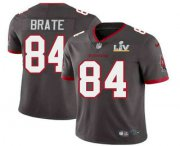 Wholesale Cheap Men's Tampa Bay Buccaneers #84 Cameron Brate Grey 2021 Super Bowl LV Limited Stitched NFL Jersey