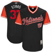 "Wholesale Cheap Nationals #37 Stephen Strasburg Navy ""Stras"" Players Weekend Authentic Stitched MLB Jersey"