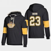 Wholesale Cheap Los Angeles Kings #23 Dustin Brown Black adidas Lace-Up Pullover Hoodie