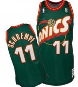 Wholesale Cheap Seattle Supersonics #11 Detlef Schrempf 1995-96 Green Throwback Swingman Jersey