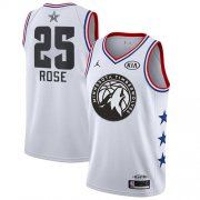 Wholesale Cheap Timberwolves #25 Derrick Rose White Basketball Jordan Swingman 2019 All-Star Game Jersey