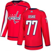 Wholesale Cheap Adidas Capitals #77 T.J Oshie Red Home Authentic Stitched NHL Jersey
