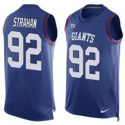 Wholesale Cheap Nike Giants #92 Michael Strahan Royal Blue Team Color Men's Stitched NFL Limited Tank Top Jersey