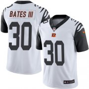 Wholesale Cheap Nike Bengals #30 Jessie Bates III White Youth Stitched NFL Limited Rush Jersey