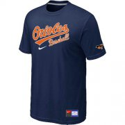 Wholesale Cheap Baltimore Orioles Nike Short Sleeve Practice MLB T-Shirt Midnight Blue