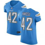 Wholesale Cheap Nike Chargers #42 Uchenna Nwosu Electric Blue Alternate Men's Stitched NFL Vapor Untouchable Elite Jersey