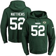 Wholesale Cheap Nike Packers #52 Clay Matthews Green Name & Number Pullover NFL Hoodie