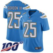 Wholesale Cheap Nike Chargers #25 Melvin Gordon III Electric Blue Alternate Men's Stitched NFL 100th Season Vapor Limited Jersey