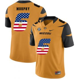 Wholesale Cheap Missouri Tigers 6 Marcus Murphy Gold USA Flag Nike College Football Jersey