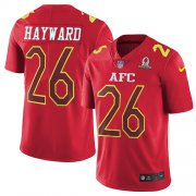 Wholesale Cheap Nike Chargers #26 Casey Hayward Red Men's Stitched NFL Limited AFC 2017 Pro Bowl Jersey