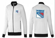 Wholesale Cheap NHL New York Rangers Zip Jackets White-1