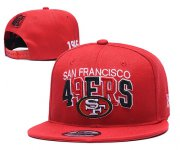 Wholesale Cheap 49ers Team Logo Red 1946 Anniversary Adjustable Hat YD