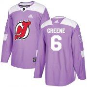 Wholesale Cheap Adidas Devils #6 Andy Greene Purple Authentic Fights Cancer Stitched NHL Jersey