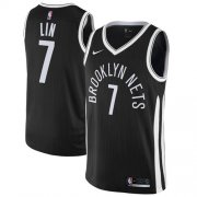Wholesale Cheap Nike Brooklyn Nets #7 Jeremy Lin Black NBA Swingman City Edition Jersey