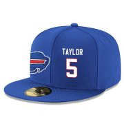 Wholesale Cheap Buffalo Bills #5 Tyrod Taylor Snapback Cap NFL Player Royal Blue with White Number Stitched Hat