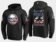 Wholesale Cheap Sabres #23 Sam Reinhart NHL Banner Wave Usa Flag Black Hoodie