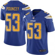 Wholesale Cheap Nike Chargers #53 Mike Pouncey Electric Blue Youth Stitched NFL Limited Rush Jersey