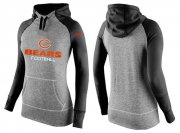 Wholesale Cheap Women's Nike Chicago Bears Performance Hoodie Grey & Black