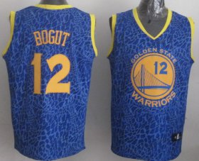 Wholesale Cheap Golden State Warriors #12 Andrew Bogut Blue Leopard Print Fashion Jersey