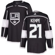 Wholesale Cheap Adidas Kings #21 Mario Kempe Black Home Authentic Stitched NHL Jersey