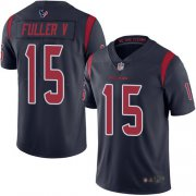 Wholesale Cheap Nike Texans #15 Will Fuller V Navy Blue Men's Stitched NFL Limited Rush Jersey