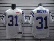 Wholesale Cheap Colts #31 Donald Brown White With Super Bowl Patch Stitched NFL Jersey