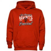 Wholesale Cheap San Francisco Giants Script MLB Pullover Orange MLB Hoodie