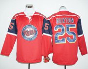 Wholesale Cheap Twins #25 Byron Buxton Red Long Sleeve Stitched MLB Jersey